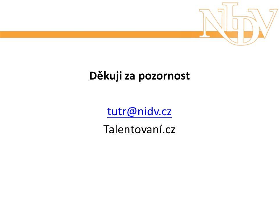 Děkuji za pozornost tutr@nidv.cz Talentovaní.cz