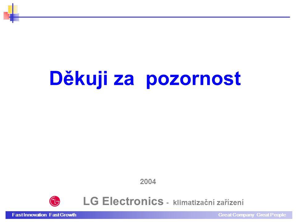 Fast Innovation Fast GrowthGreat Company Great People 2004 Děkuji za pozornost LG Electronics - klimatizační zařízení
