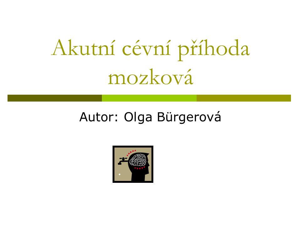 Akutní cévní příhoda mozková Autor: Olga Bürgerová