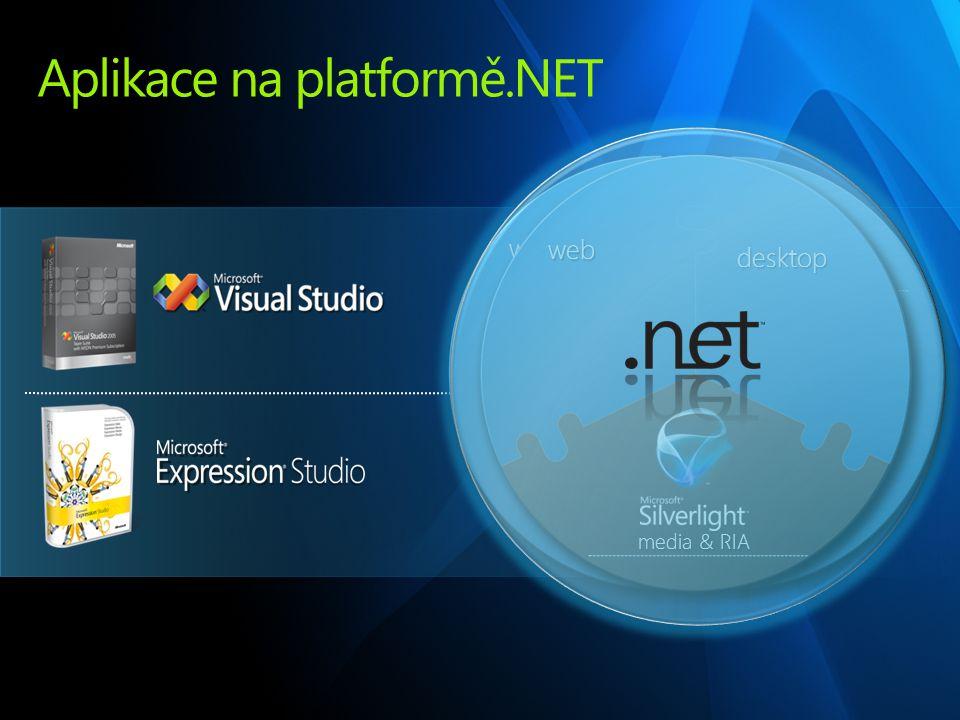 Aplikace na platformě.NET web desktop media & RIA web desktop