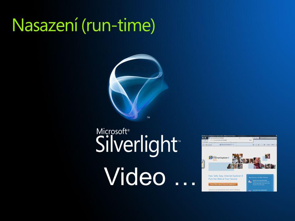 Nasazení (run-time) Video …