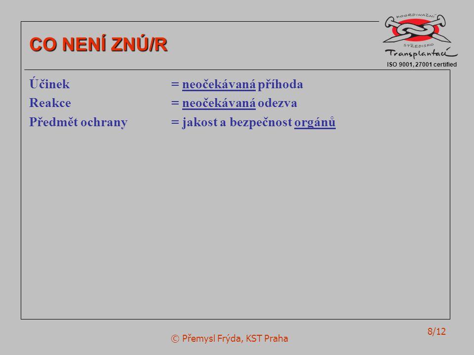© Přemysl Frýda, KST Praha 8/12 ISO 9001, 27001 certified CO NENÍ ZNÚ/R