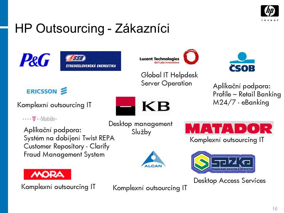 16 HP Outsourcing - Zákazníci
