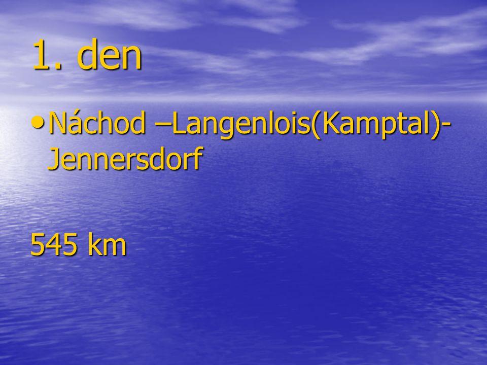 1. den Náchod –Langenlois(Kamptal)- Jennersdorf Náchod –Langenlois(Kamptal)- Jennersdorf 545 km
