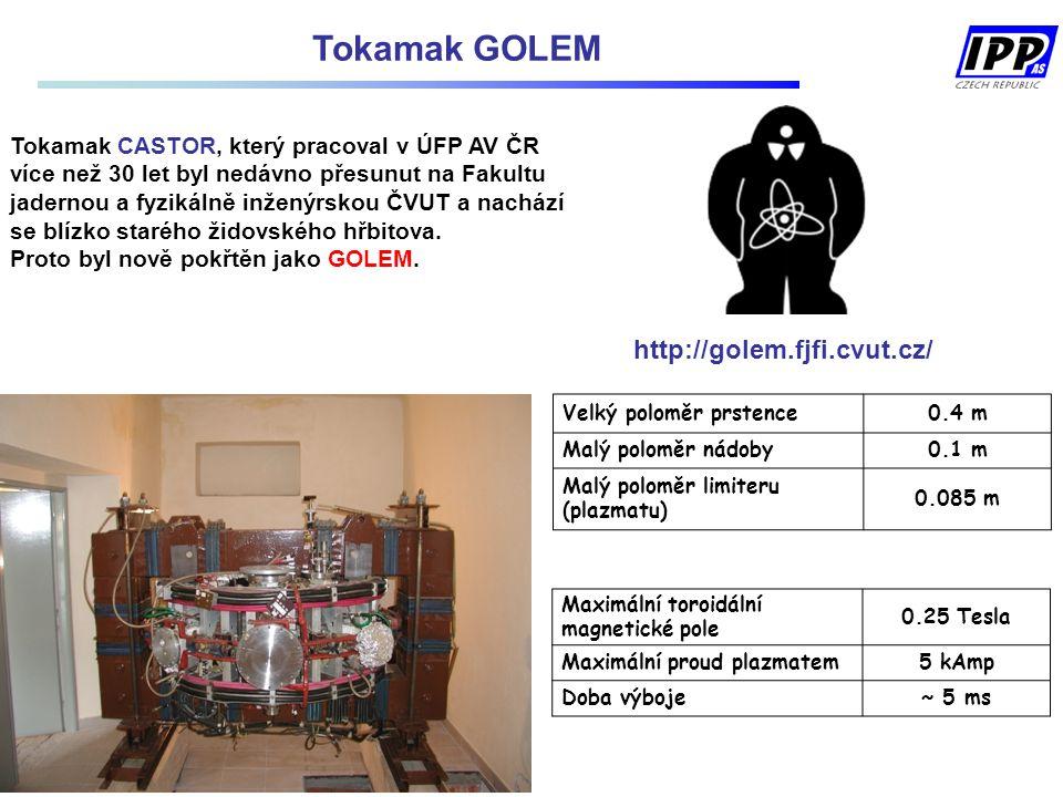Tokamak CASTOR, který pracoval v ÚFP AV ČR více než 30 let byl nedávno přesunut na Fakultu jadernou a fyzikálně inženýrskou ČVUT a nachází se blízko s