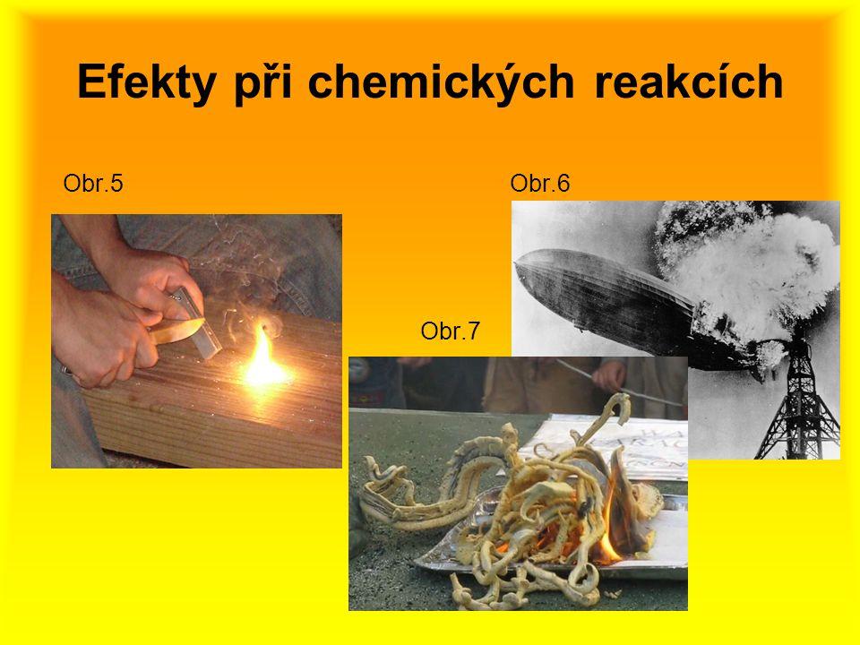 Efekty při chemických reakcích Obr.5 Obr.6 Obr.7