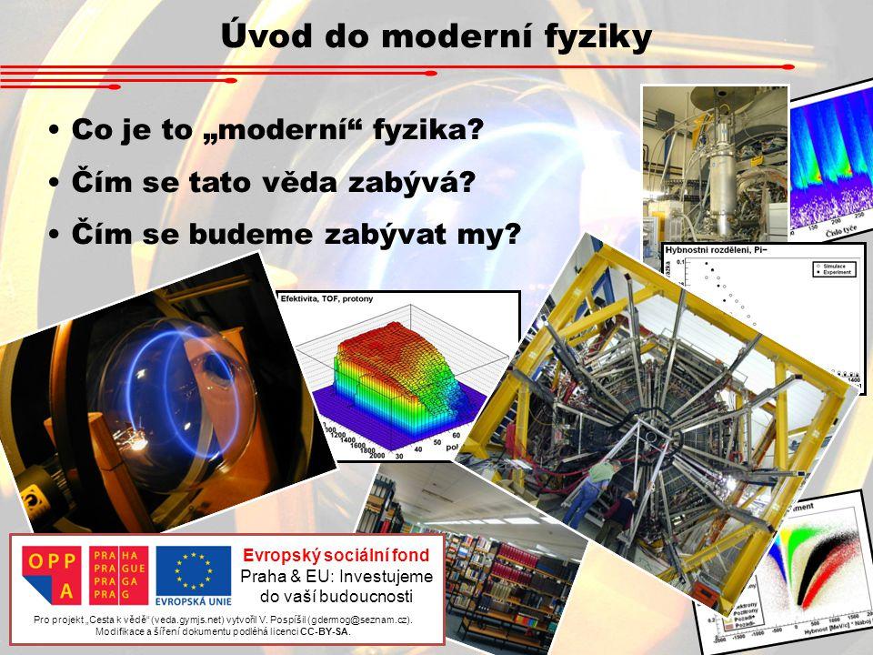 """Úvod do moderní fyziky Co je to """"moderní fyzika.Čím se tato věda zabývá."""