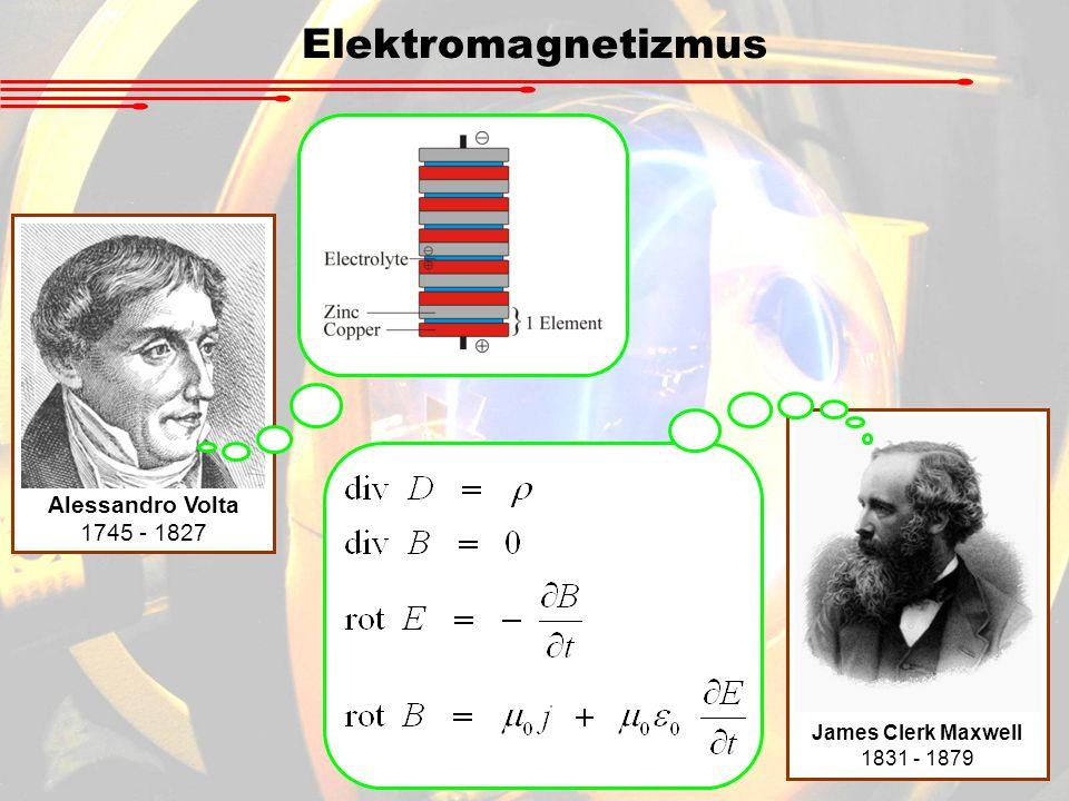 Elektromagnetizmus Alessandro Volta 1745 - 1827 James Clerk Maxwell 1831 - 1879