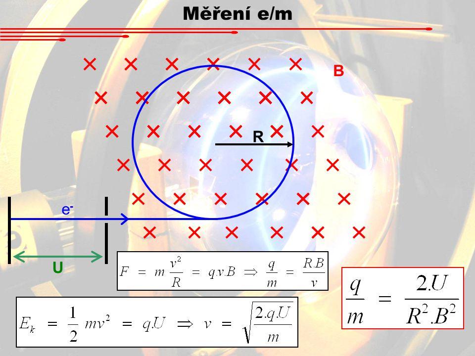 e-e- R B U Měření e/m