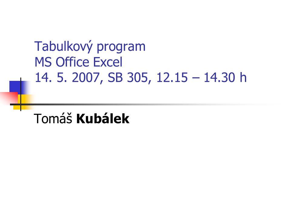 2 Osnova školení Tabulkový program MS Office Excel Elektronická pošta a databáze v Lotus Notes Textový procesor MS Office Word