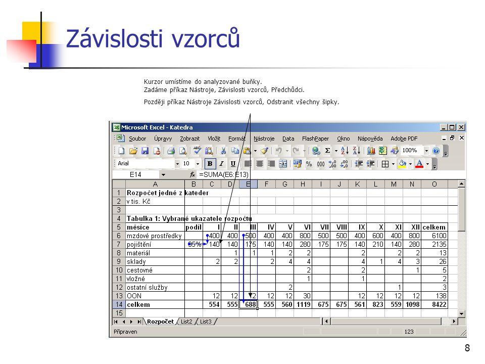 9 Formátování a jeho kopírování Tlačítko Kopírovat formát jednorázově klepnutí vícenásobně poklepání (ukončení klávesou Escape)