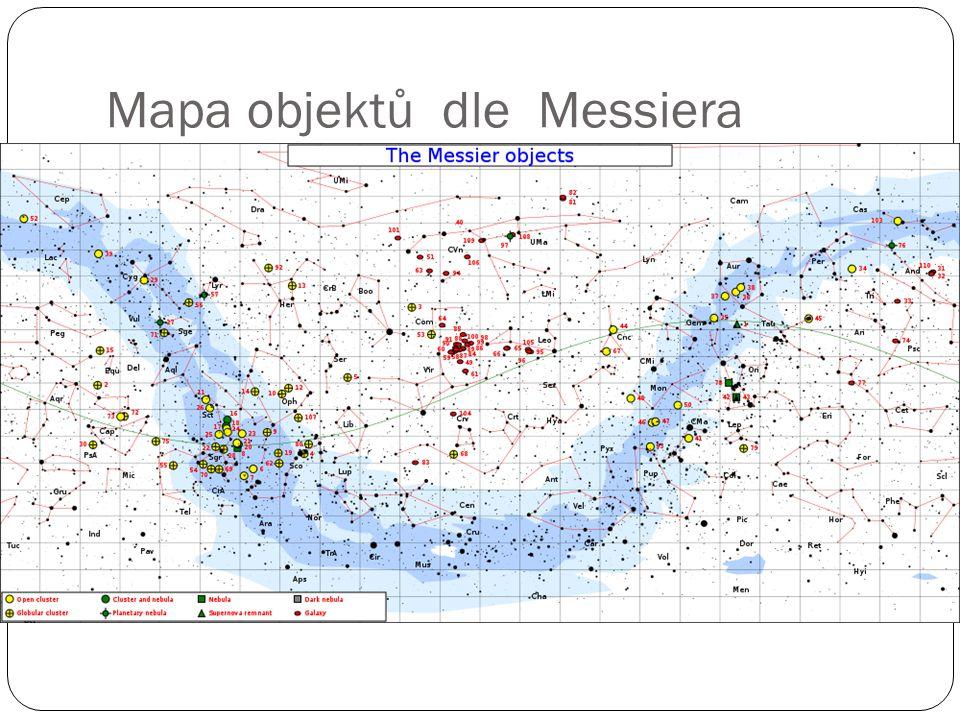Mapa objektů dle Messiera