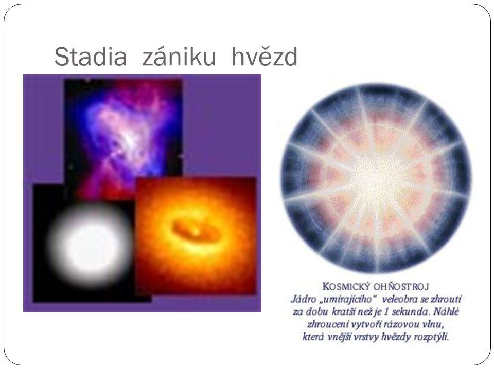 Stadia zániku hvězd