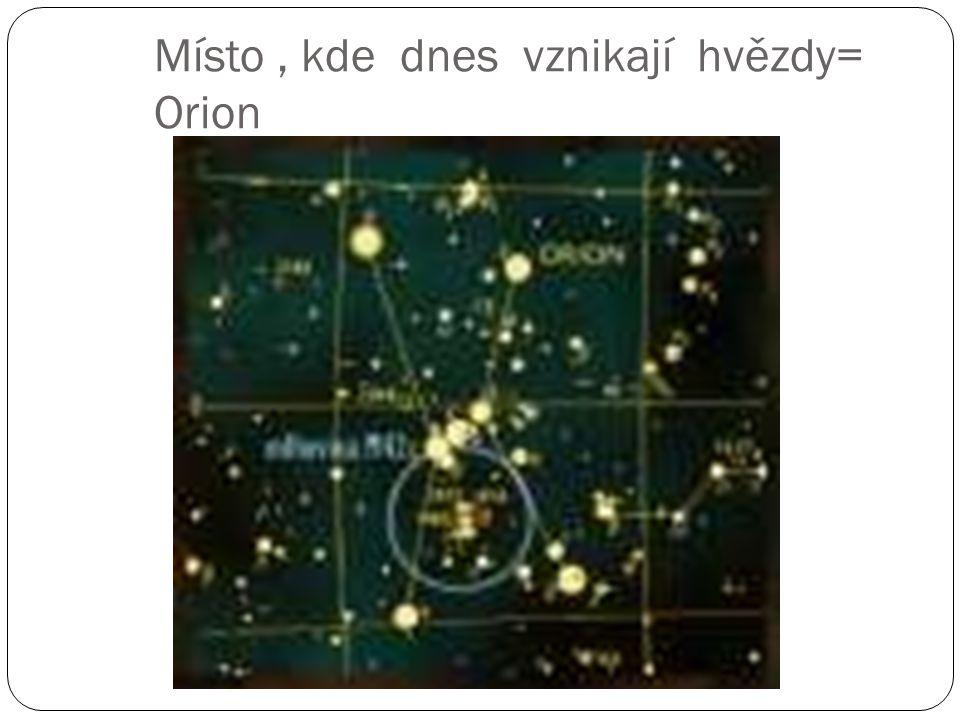 Místo, kde dnes vznikají hvězdy= Orion