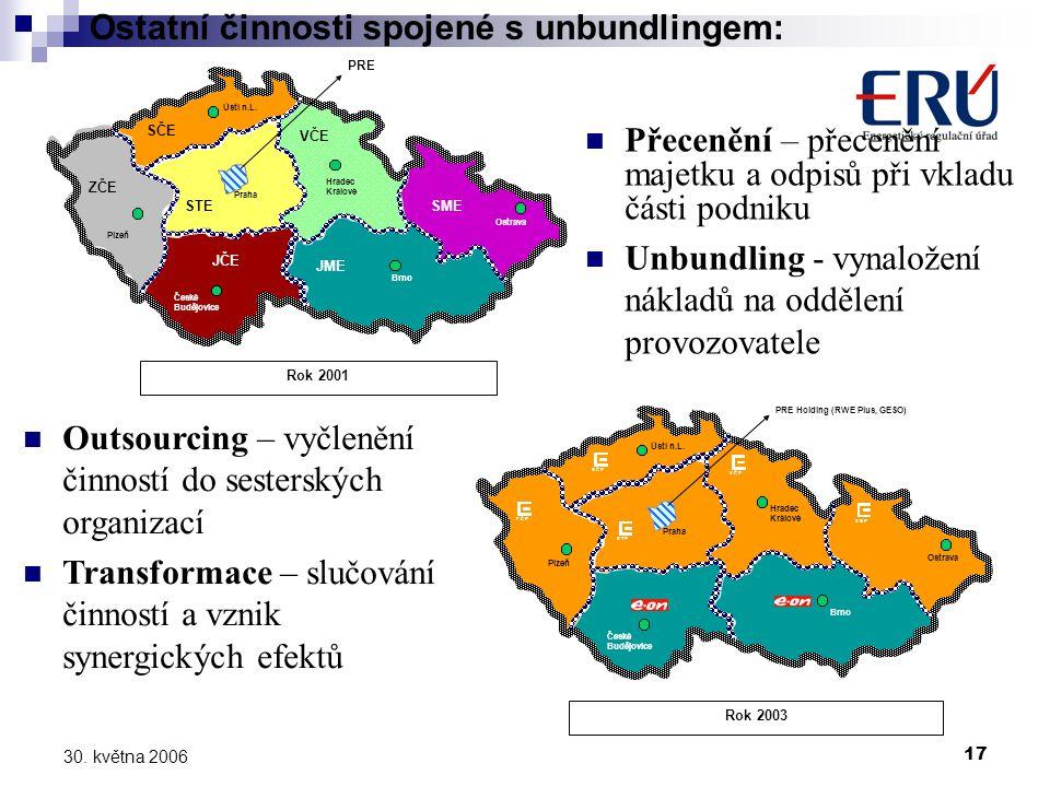 17 30. května 2006 Hradec Králové Ostrava Plzeň Ústí n.L.