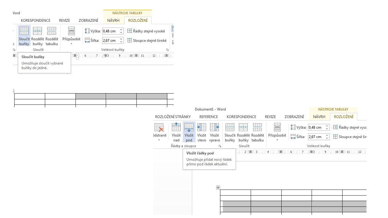 Formátování tabulky úprava čar barvy v tabulce styly na kartě Nástroje tabulky, záložka Návrh – viz.
