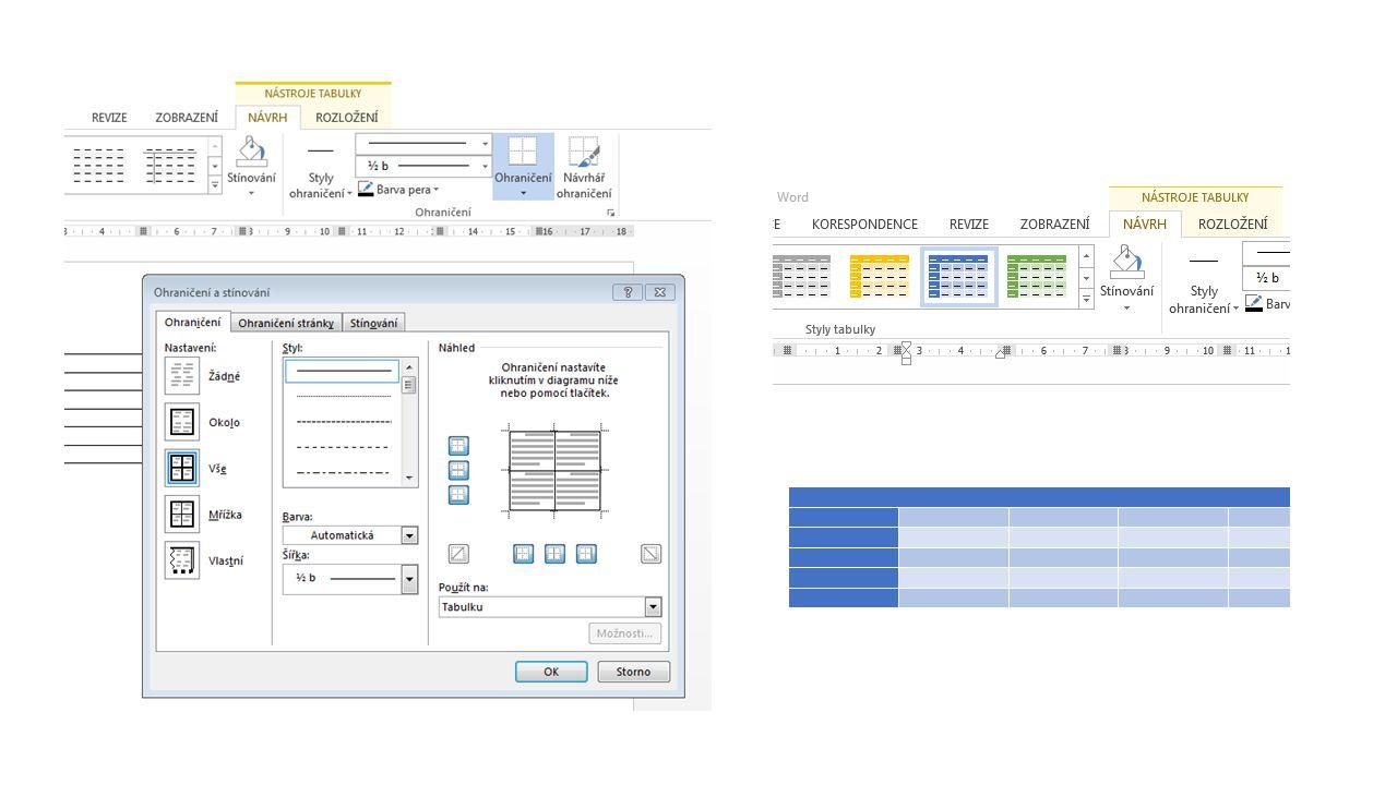 Seřazení dat v tabulce podle výšky – sestupně na kartě Nástroje tabulky, záložka Rozložení, skupina Data, Seřadit