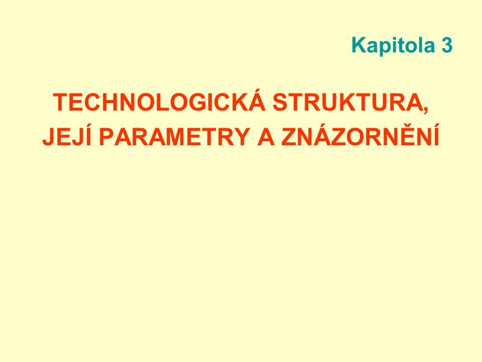 Kapitola 3 TECHNOLOGICKÁ STRUKTURA, JEJÍ PARAMETRY A ZNÁZORNĚNÍ