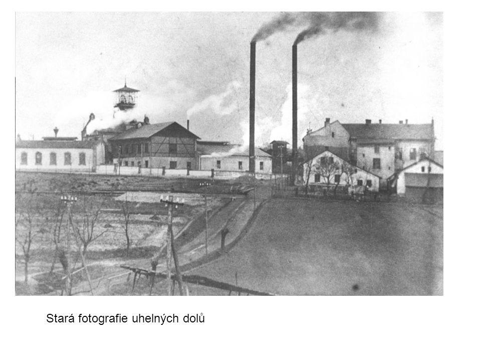 Stará fotografie uhelných dolů