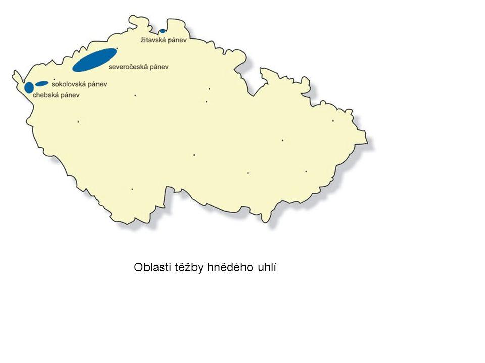 Oblasti těžby hnědého uhlí