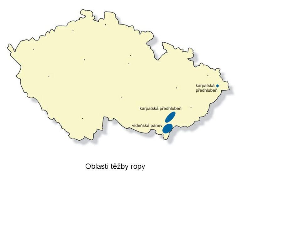 Oblasti těžby ropy