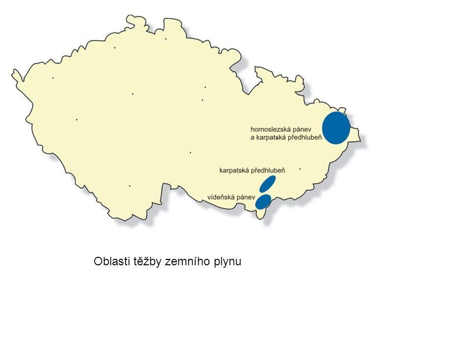 Oblasti těžby zemního plynu