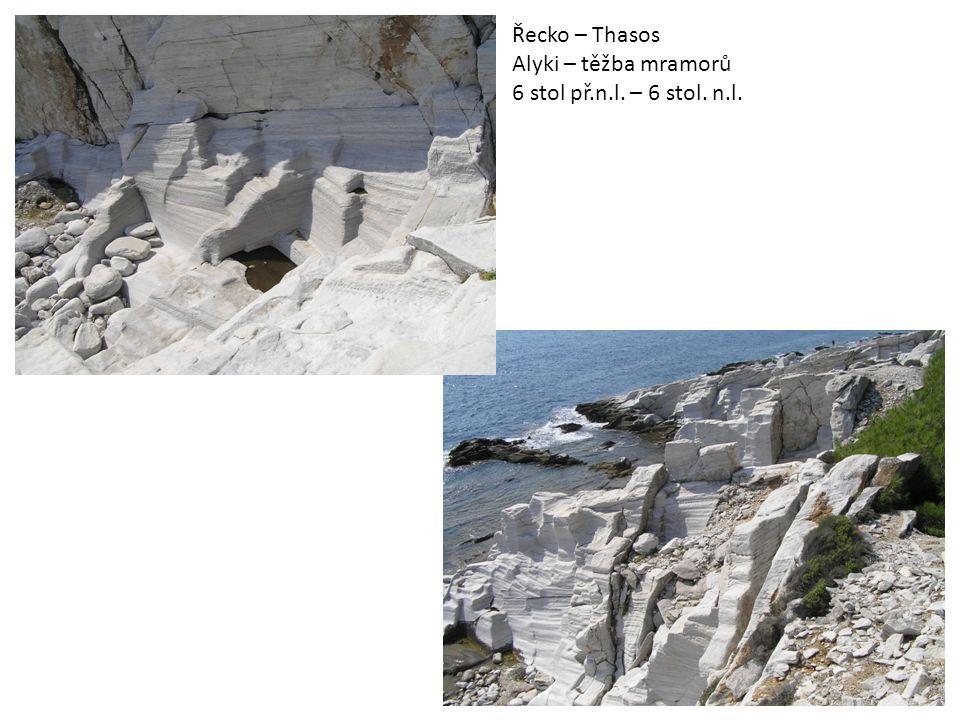 Řecko – Thasos Alyki – těžba mramorů 6 stol př.n.l. – 6 stol. n.l.
