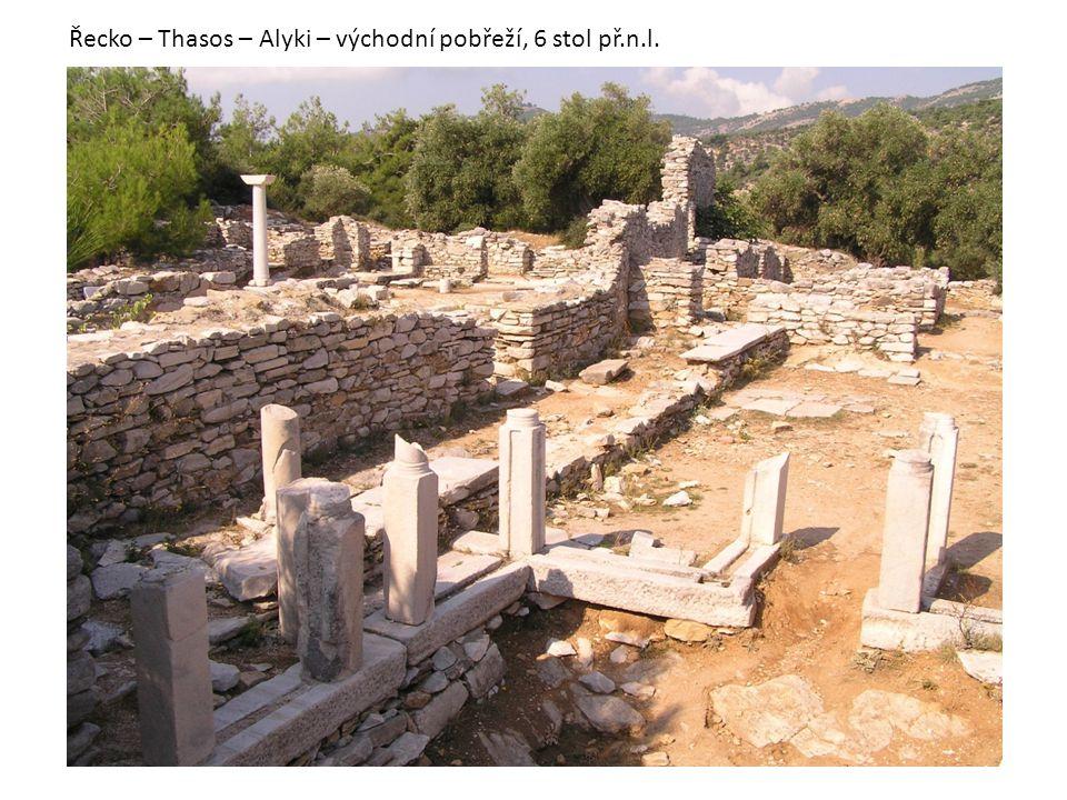 Řecko – Thasos – Alyki – východní pobřeží, 6 stol př.n.l.