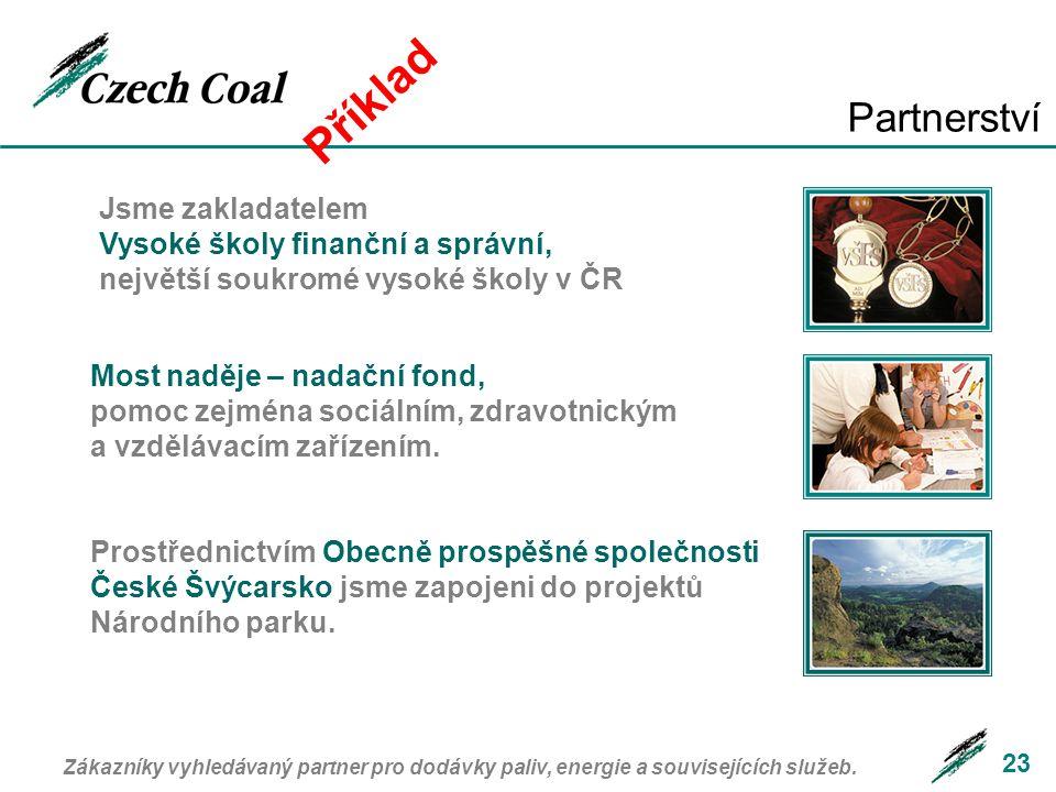 23 Partnerství Jsme zakladatelem Vysoké školy finanční a správní, největší soukromé vysoké školy v ČR Most naděje – nadační fond, pomoc zejména sociál