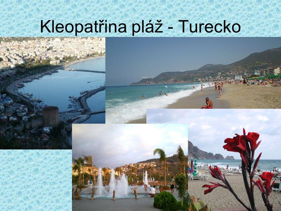 Kleopatřina pláž turecko
