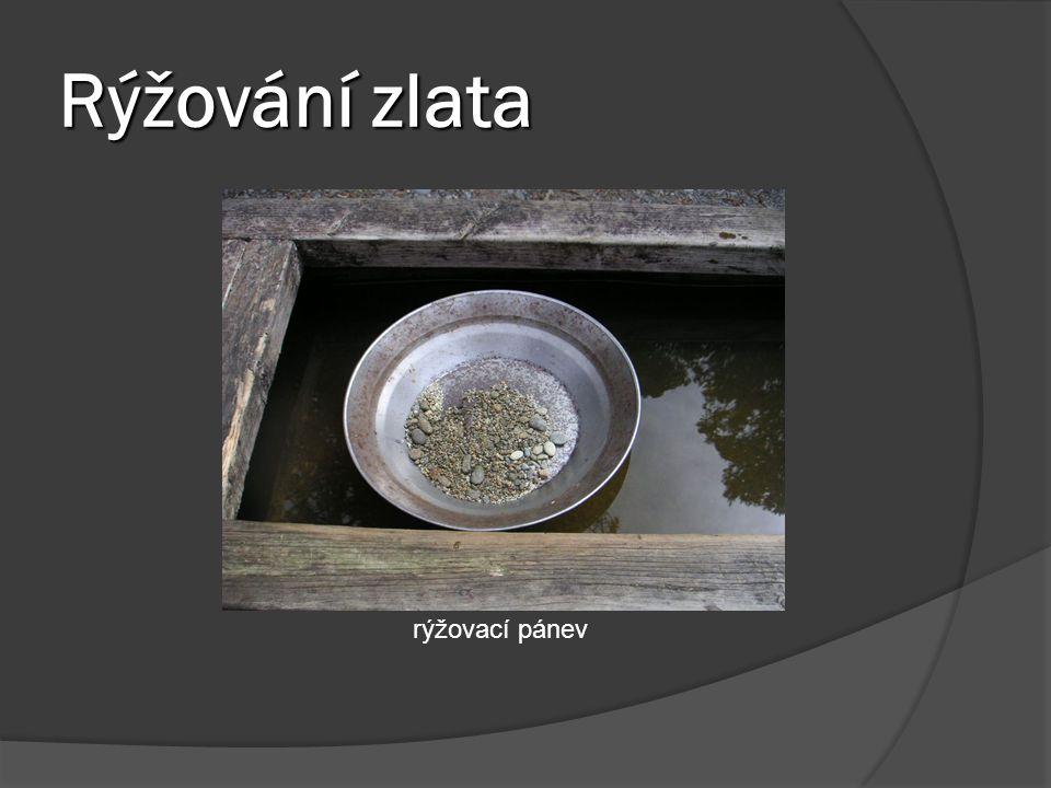 Rýžování zlata rýžovací pánev