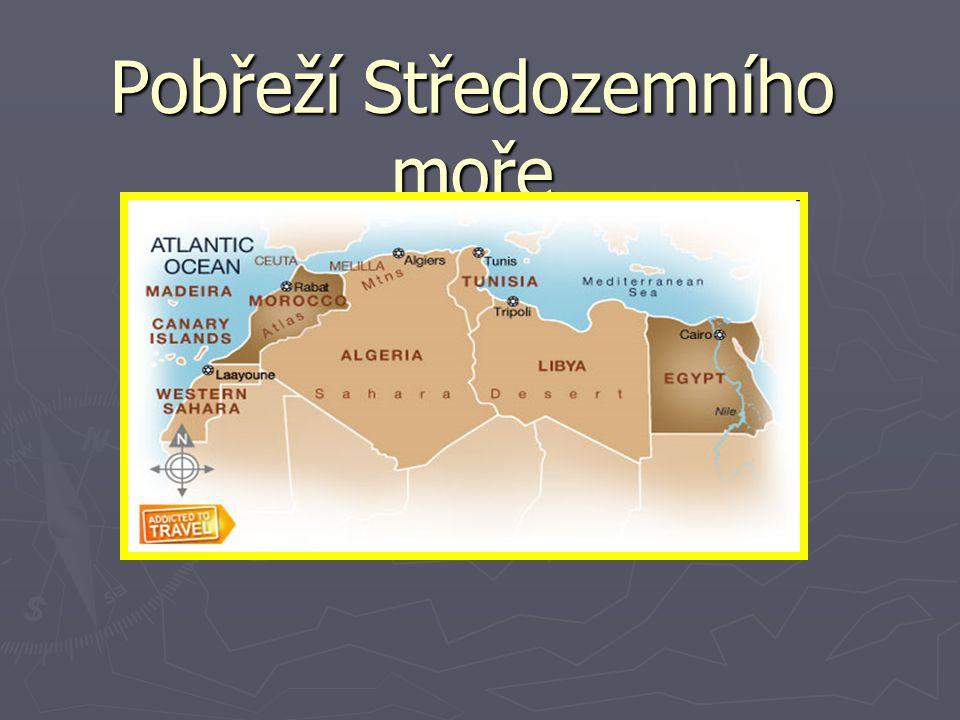 Nalep si příslušnou mapu a vyznač na ni:  jednotlivé státy a jejich hlavní města  Saharu a Atlas  památky UNESCO ► Státy: Maroko Rabat ► Marrákeš ► Alžírsko Alžír ► Tunisko Tunis ► Kartágo ► Libye Tripolis ► Egypt Kahira ► Alexandrie ► klášter sv.