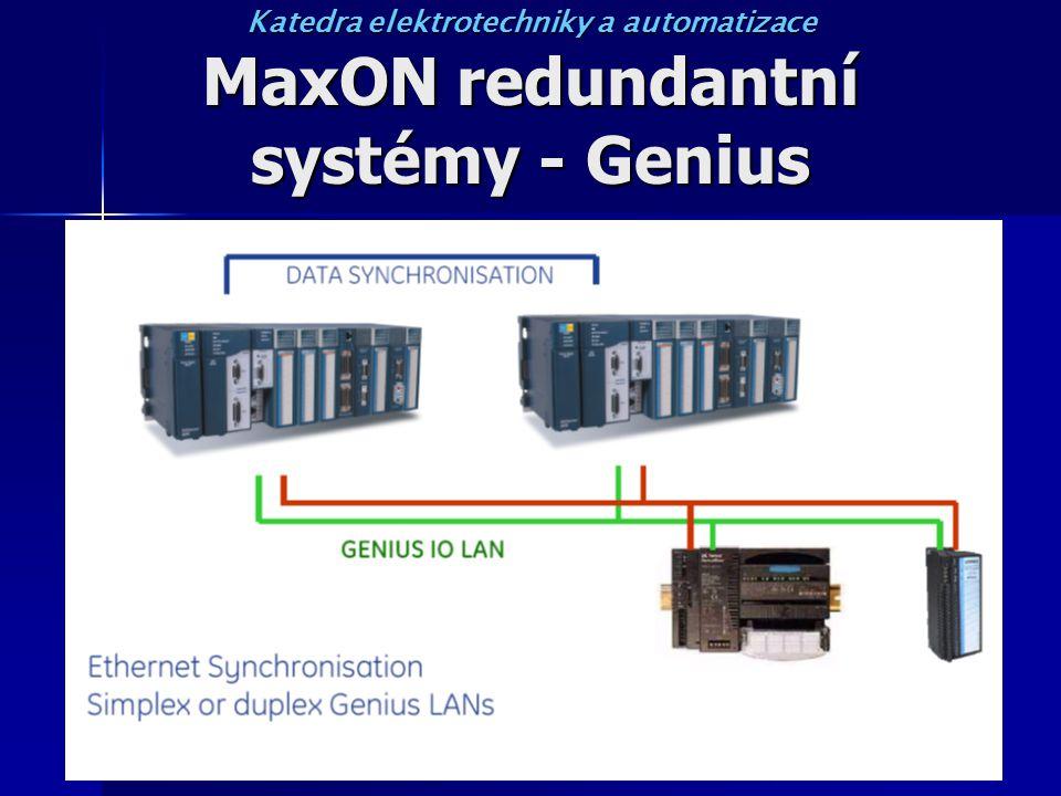 MaxON redundantní systémy - Genius Katedra elektrotechniky a automatizace