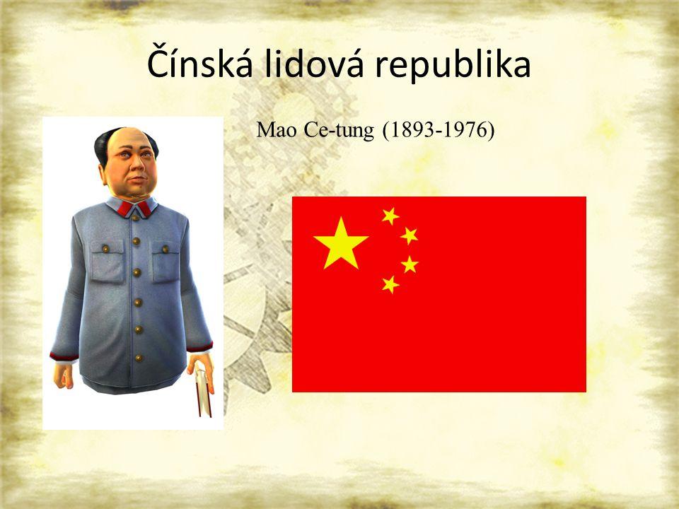 Čínská lidová republika Mao Ce-tung (1893-1976)
