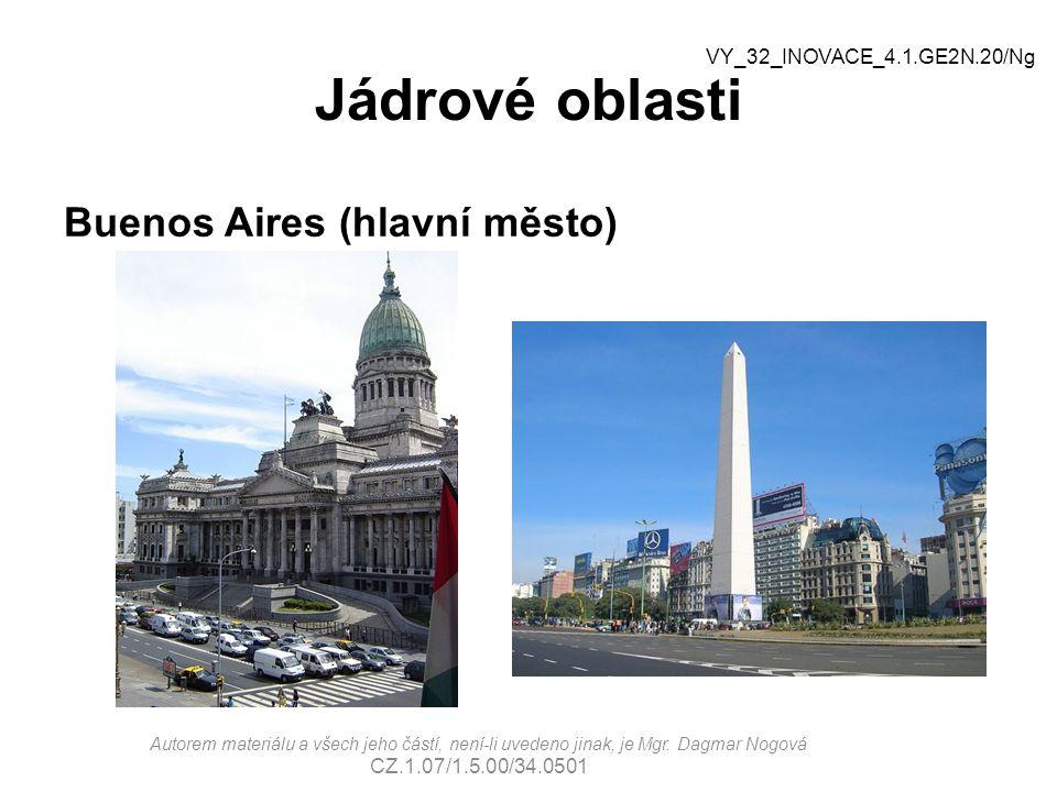 Jádrové oblasti Buenos Aires (hlavní město) Autorem materiálu a všech jeho částí, není-li uvedeno jinak, je Mgr. Dagmar Nogová CZ.1.07/1.5.00/34.0501