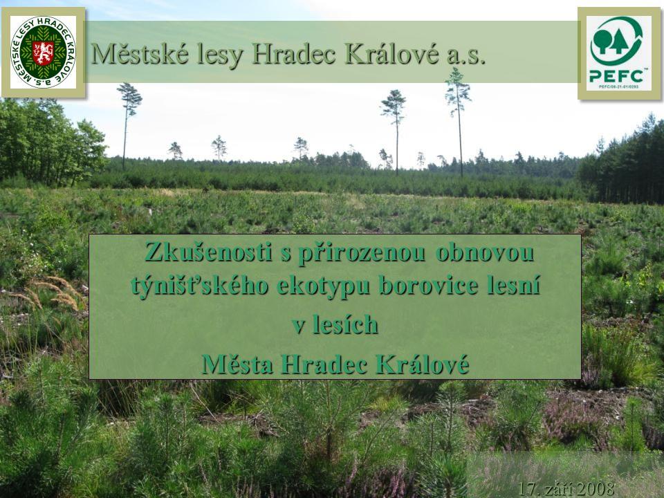Zkušenosti s přirozenou obnovou týnišťského ekotypu borovice lesní Zkušenosti s přirozenou obnovou týnišťského ekotypu borovice lesní v lesích Města H