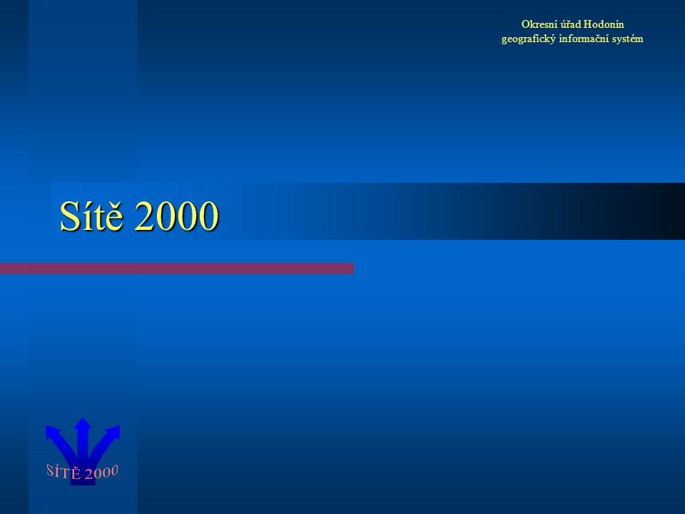 Sítě 2000 Okresní úřad Hodonín geografický informační systém