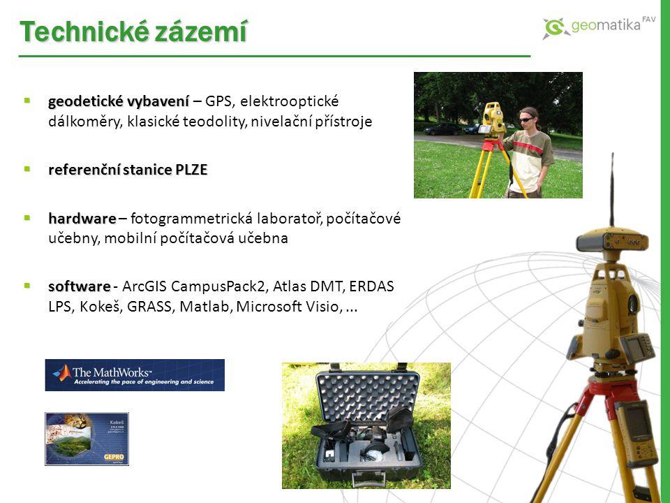  geodetické vybavení  geodetické vybavení – GPS, elektrooptické dálkoměry, klasické teodolity, nivelační přístroje  referenční stanice PLZE  hardw