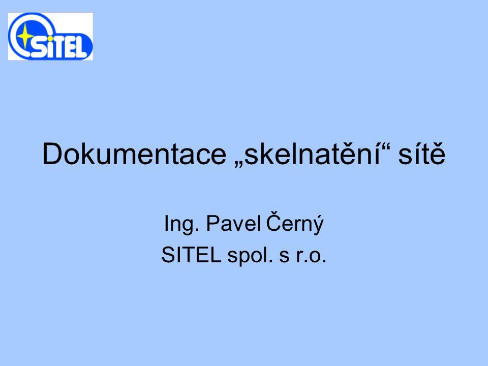 """Dokumentace """"skelnatění"""" sítě Ing. Pavel Černý SITEL spol. s r.o."""