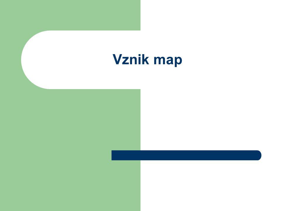 Vznik map