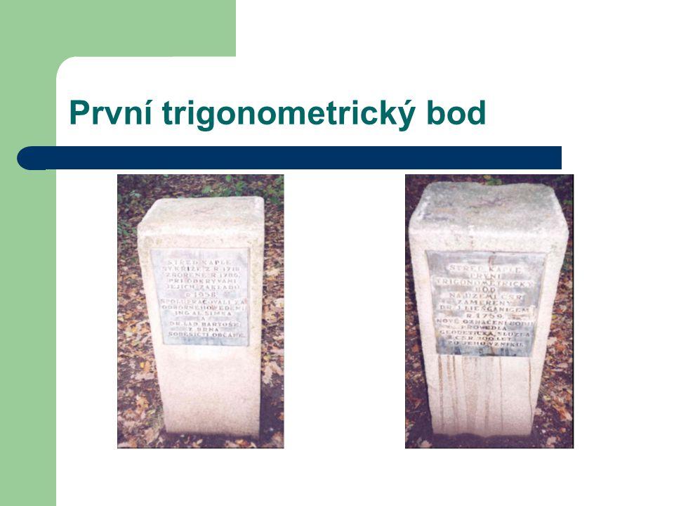 Trigonometrická síť V České republice je výchozím bodem trigonometrický bod Pecný (leží na jihovýchodě od Prahy).