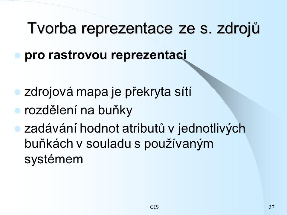 GIS37 Tvorba reprezentace ze s.