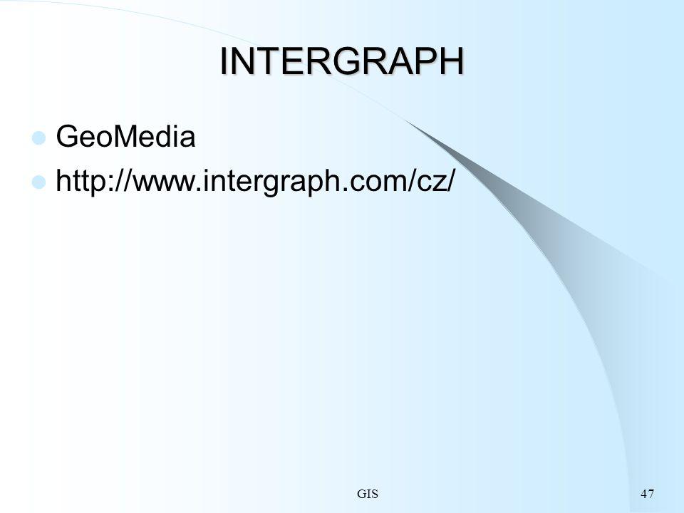 GIS47 INTERGRAPH GeoMedia http://www.intergraph.com/cz/