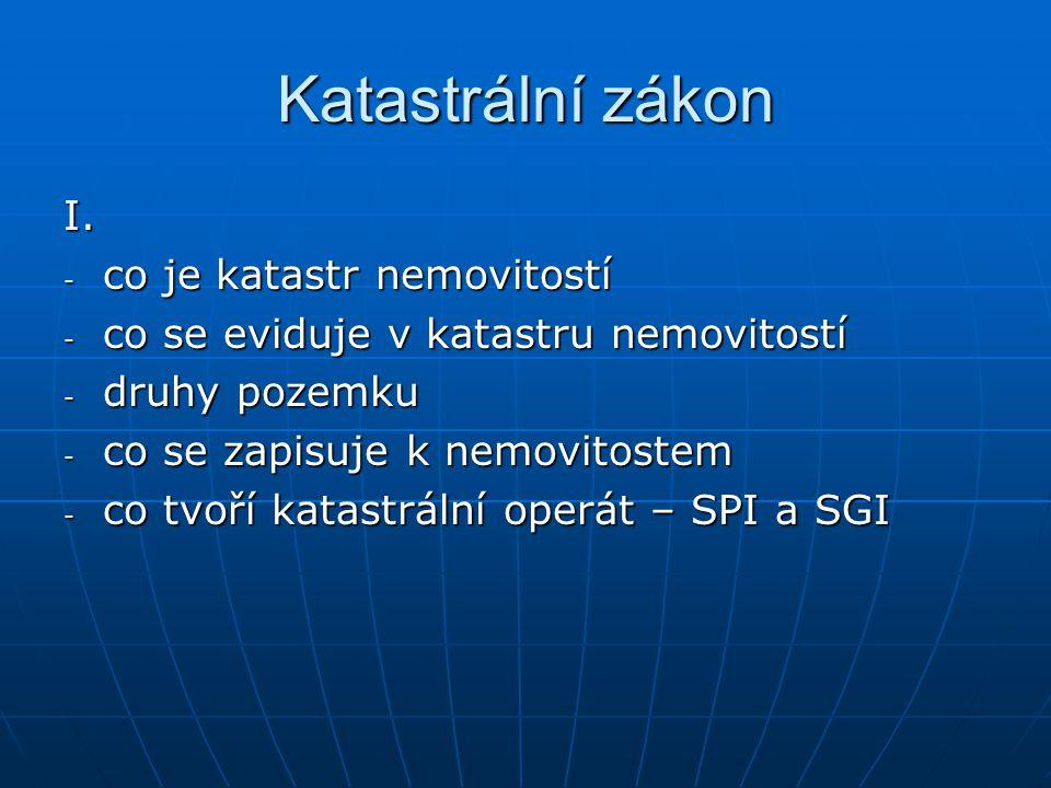 Katastrální zákon II.II.