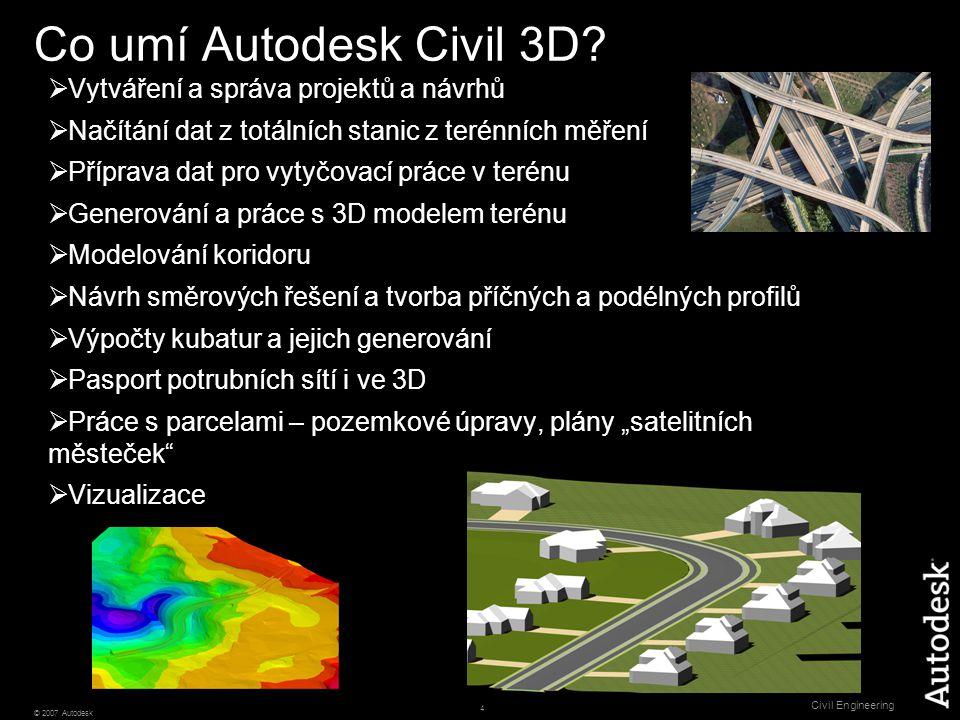 5 © 2007 Autodesk Civil Engineering Zjistěte, jak bude projekt vypadat…