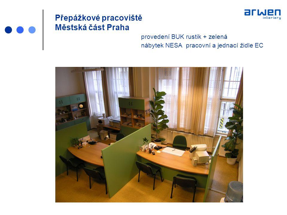 Sestava skříní na míru 240x200x40 Městská část Praha provedení BUK rustik cena za komplet realizaci 18 000 Kč