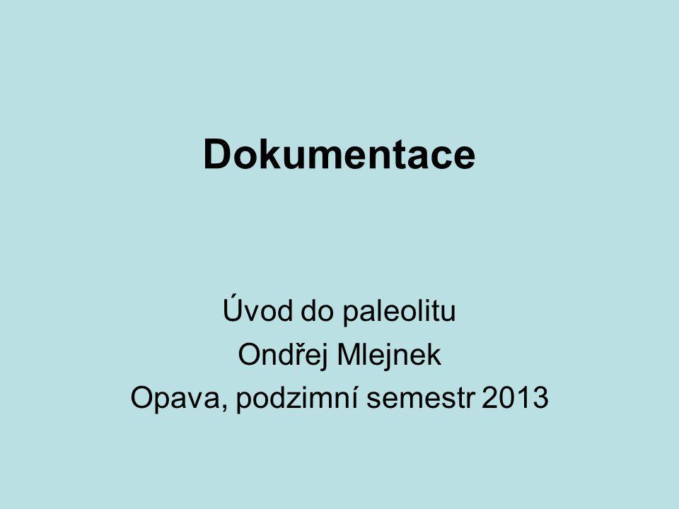 Dokumentace Úvod do paleolitu Ondřej Mlejnek Opava, podzimní semestr 2013