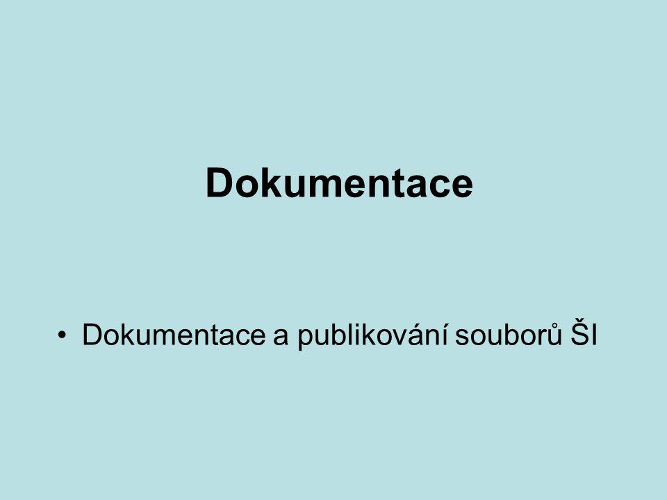 Dokumentace Dokumentace a publikování souborů ŠI