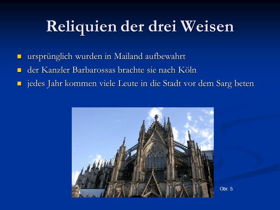 Reliquien der drei Weisen ursprünglich wurden in Mailand aufbewahrt ursprünglich wurden in Mailand aufbewahrt der Kanzler Barbarossas brachte sie nach