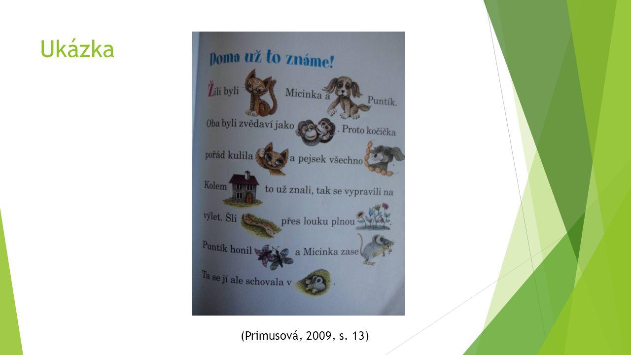 Ukázka (Primusová, 2009, s. 13)